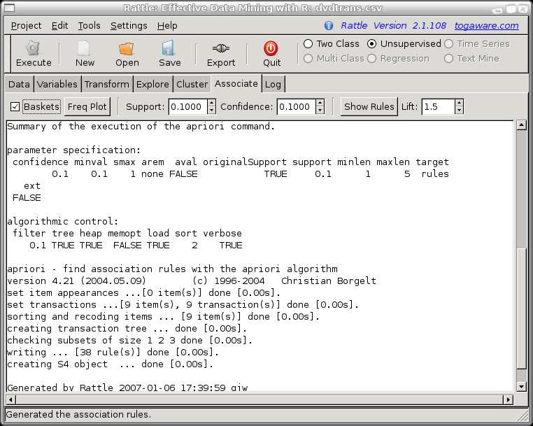 Togaware rattle-dvd-associate-bot
