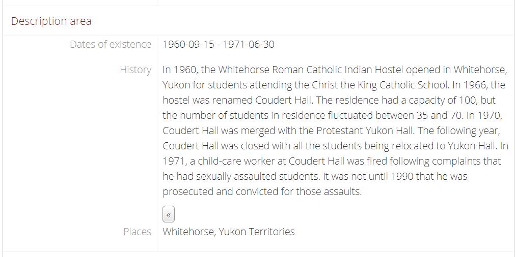 Coudert Hall, description, landing page (detail).
